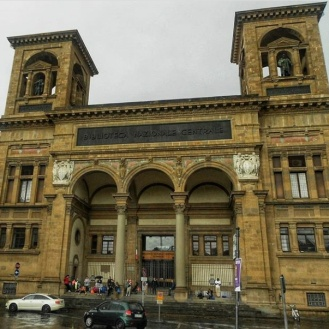 Italy in the rain Florence Library