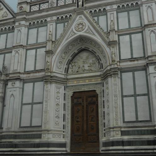 Basilica Di Santa Croce doorway in Florence