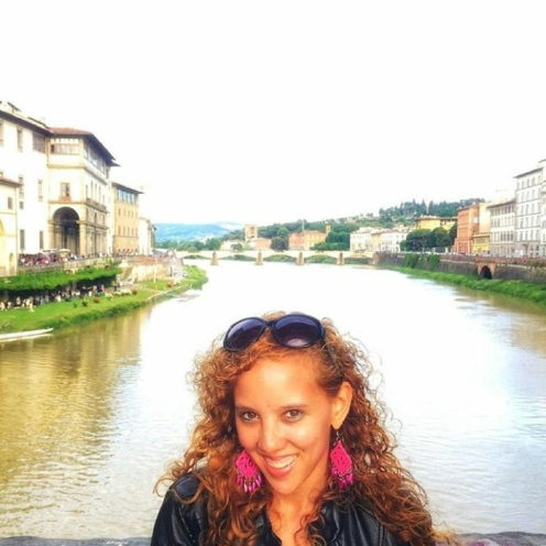 Standing on the Ponte vecchio in Florence