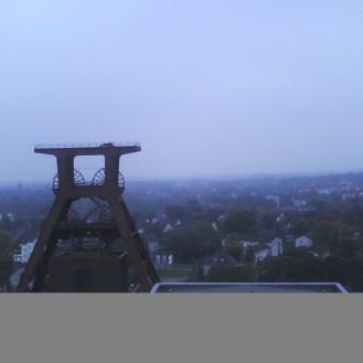 View of Essen and Zeche Zollverein old mine