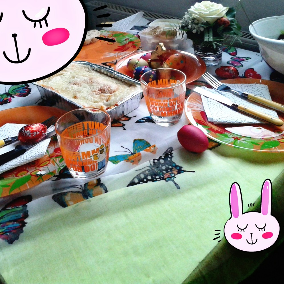 Essen Germany Easter table at my dorm