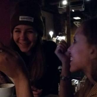 Laughing at miamamia with Anastasia