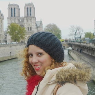 Notre Dame Cathedral in Background the Seine river and Me