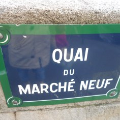 Street sign with my cousins name in Paris