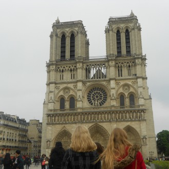 Outside of Notre Dame Cathedral, Paris