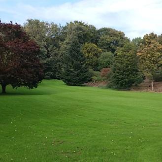 The grounds of Villa Hugel