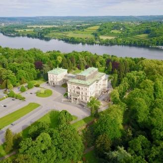 Ariel view Image Credit: Villa Hügel: 360degreeAerial / shutterstock