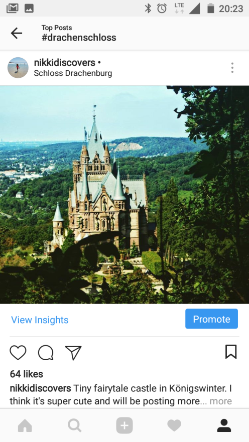 Example of Less popular hashtag Drachenschloss. This castle in Bonn is also called the Dragon Castle