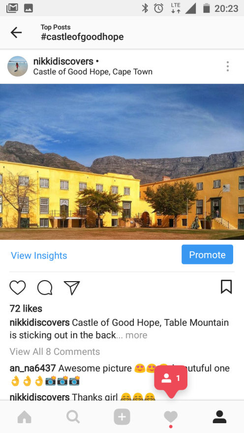 The Castle of Goodhope in Cape Town. The hashtag isn't that popular.