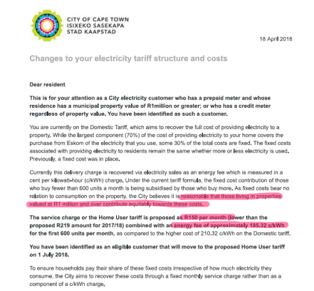 City of Cape Town electricity notice