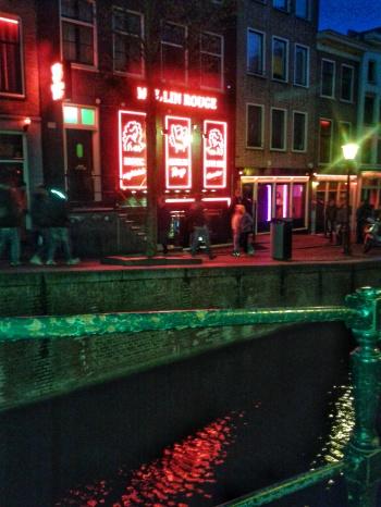 Redlight district Amsterdam brothel Netherlands