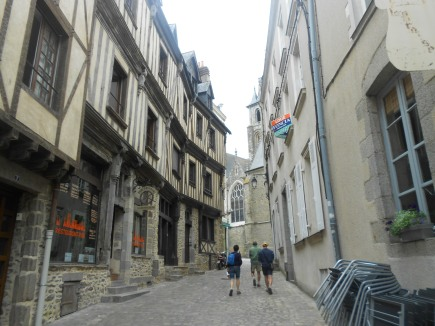 The old quarter of Laval, France