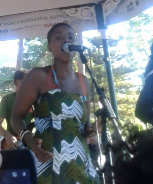 Zolani of Freshly Ground at the free concert held at De Waal Park, Cape Town