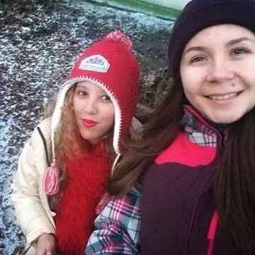 Anastasia and I on our way to the Christmas Market