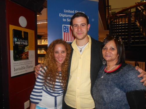 Anthony Stanco my mom and I. We attended his jazz performance at Cape Town Central Library for free.