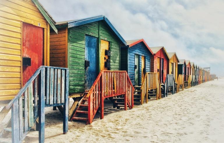 Muizenberg beach huts.