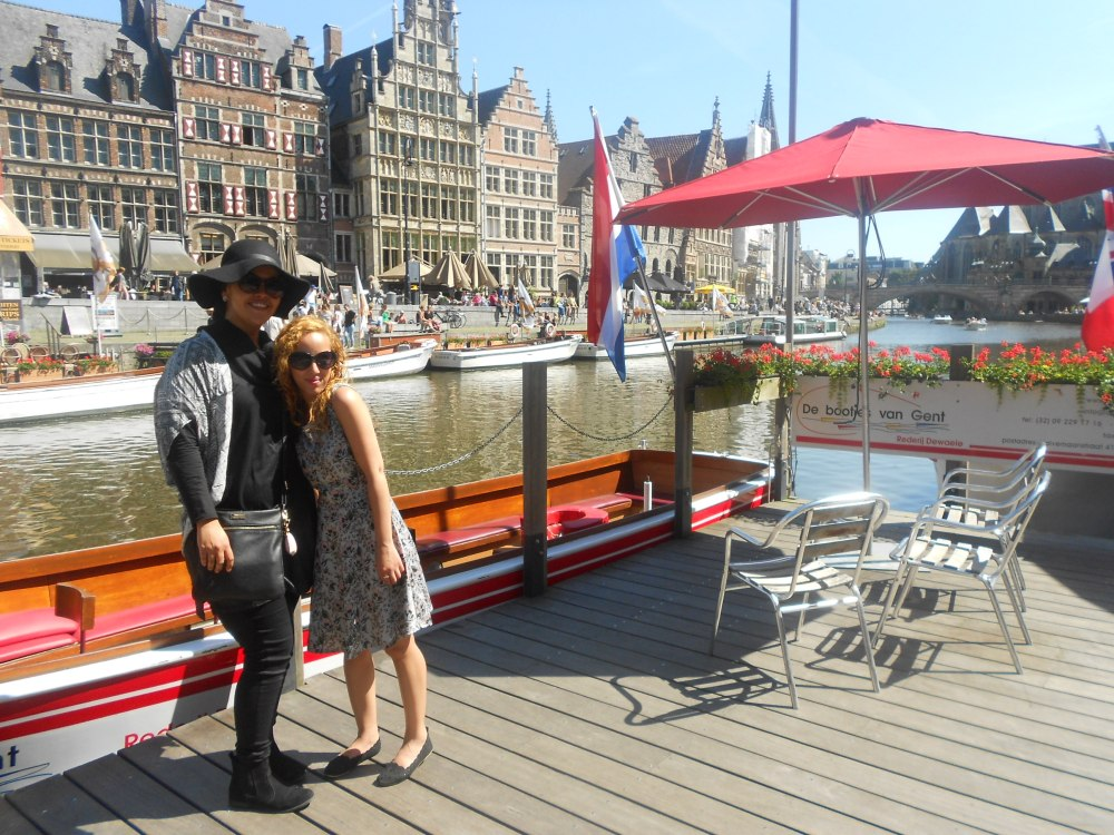 Bilqees and I in Ghent