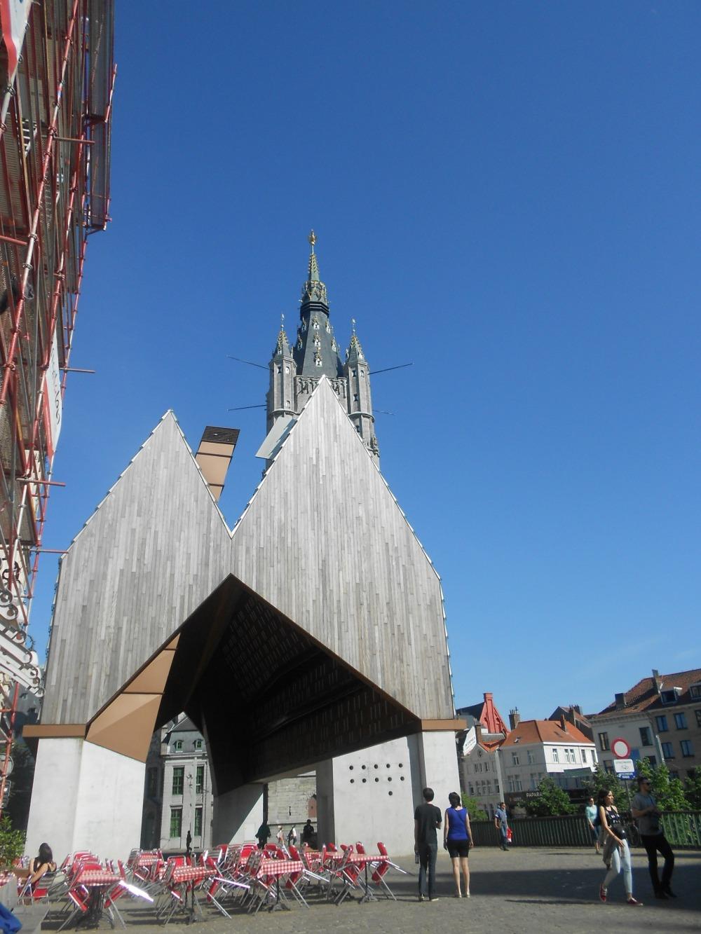 Modern buildings in Ghent