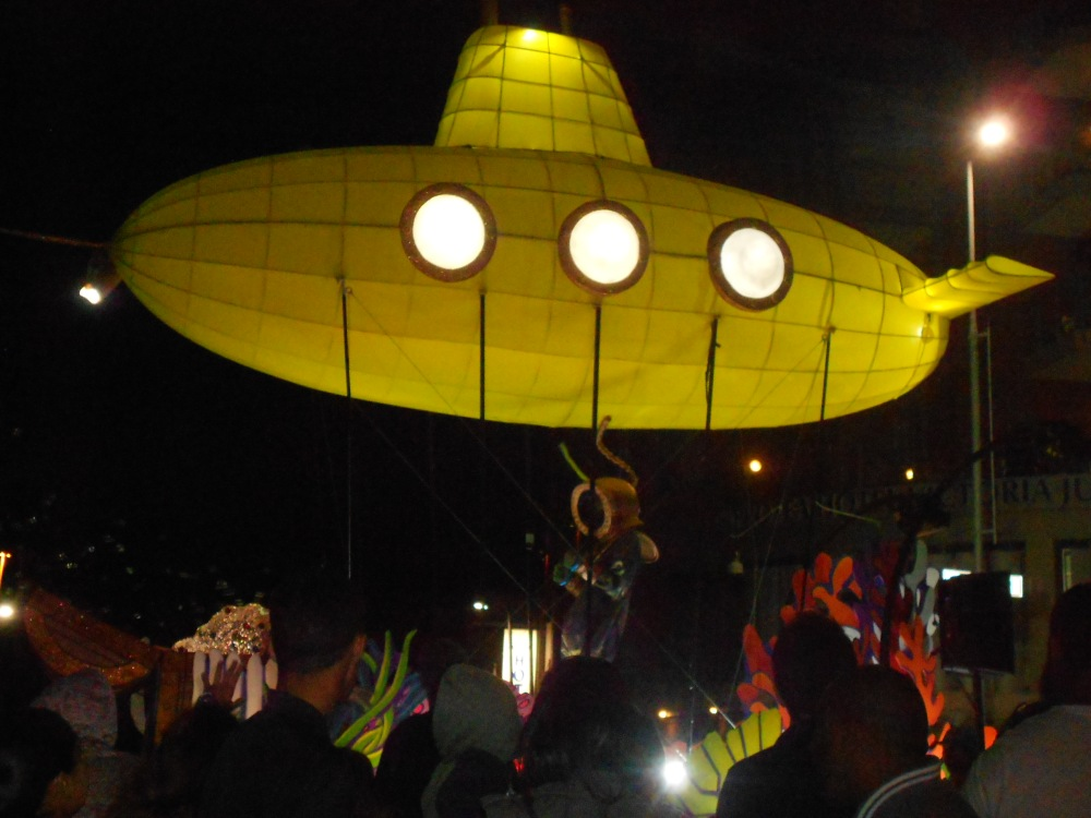 A yellow submarine part of Cape Town Carnival