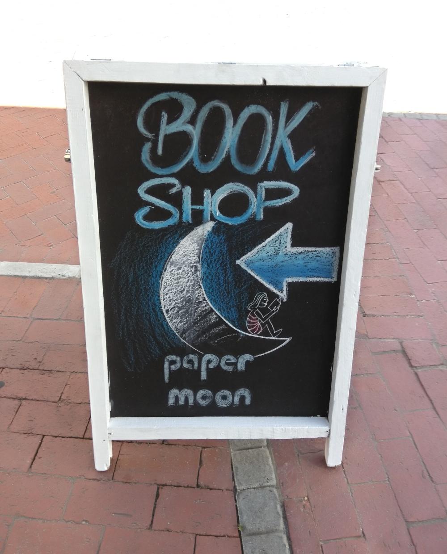 Paper moon Book shop sign