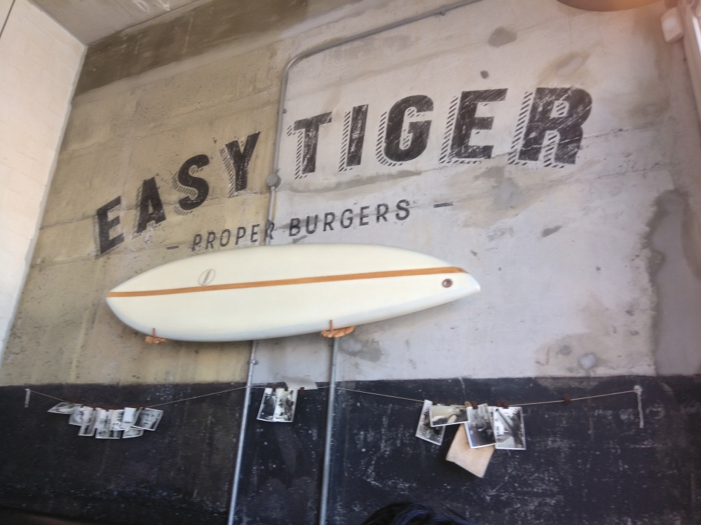 The surfer vibe interior of Easy Tiger