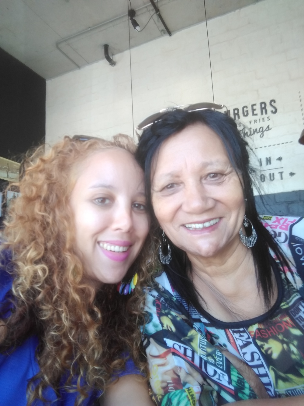 My mom and I at Easy Tiger