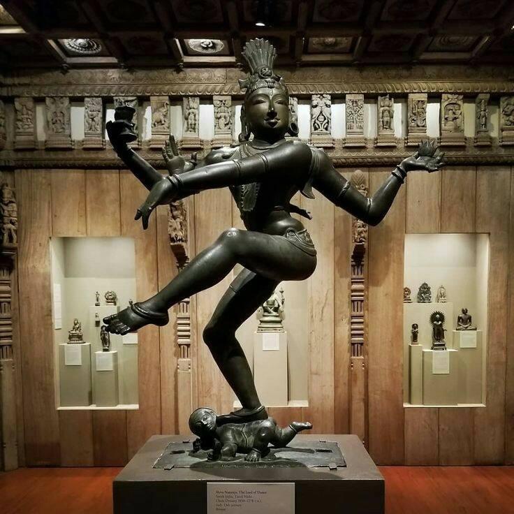 Shiva dances in this replica of a Hindu Temple.