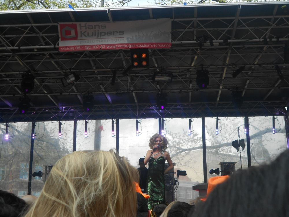 A sassy performer posing for me at Kings Day