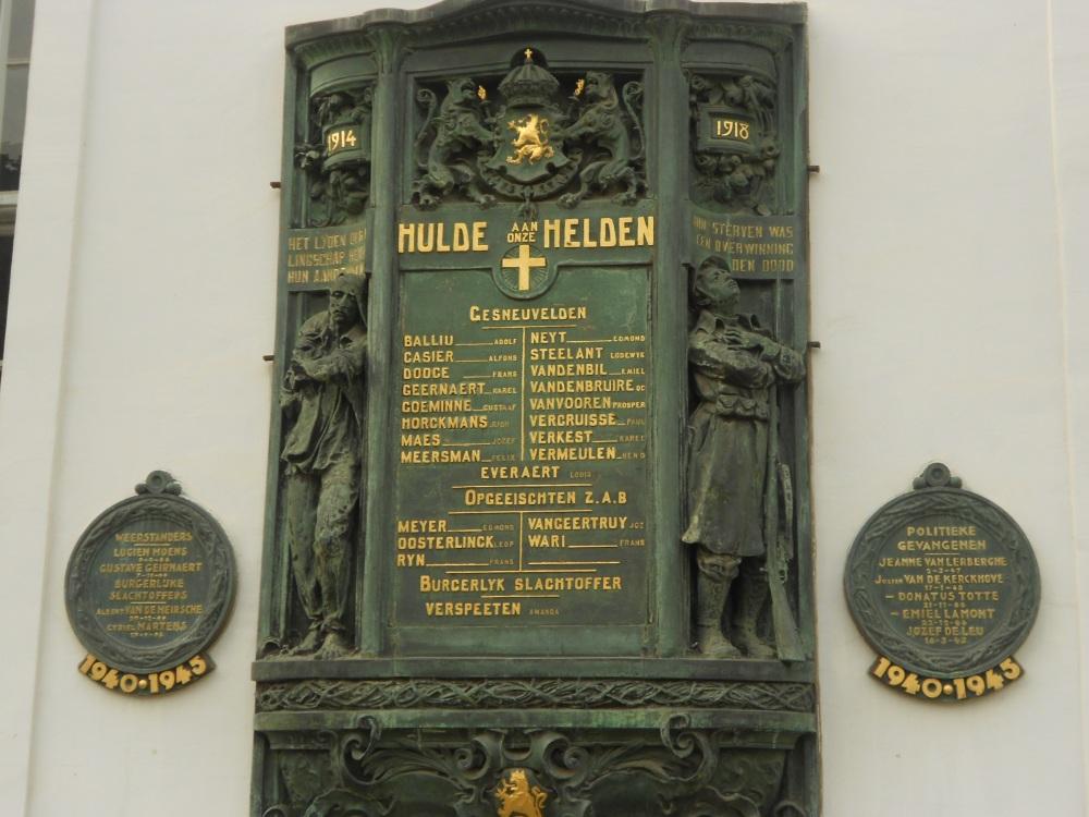 War memorial in Ghent Patershol