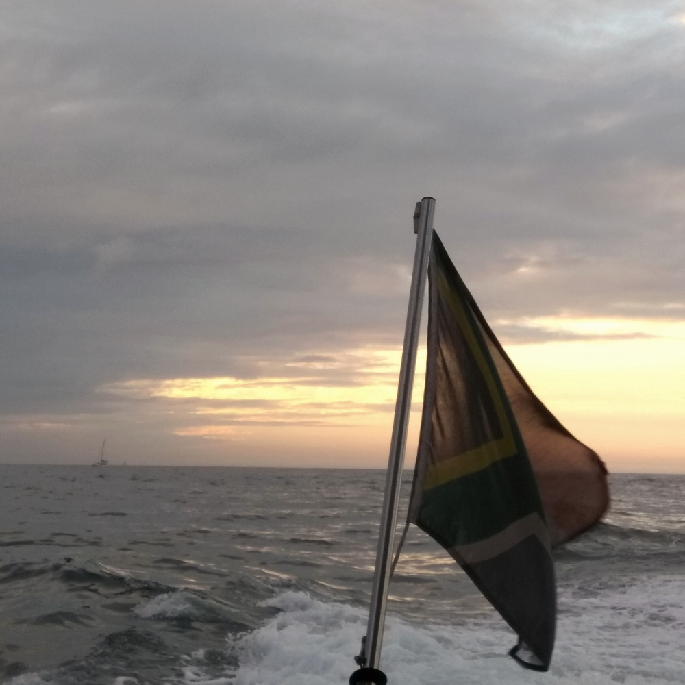 Sunset at sea in Cape Town