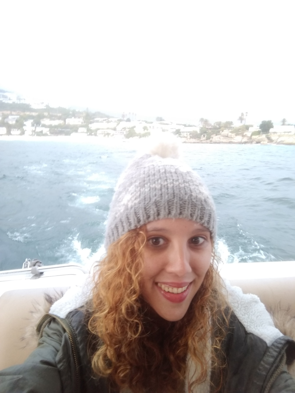 Something got caught in my tooth oh well. A boat trip selfie was needed.