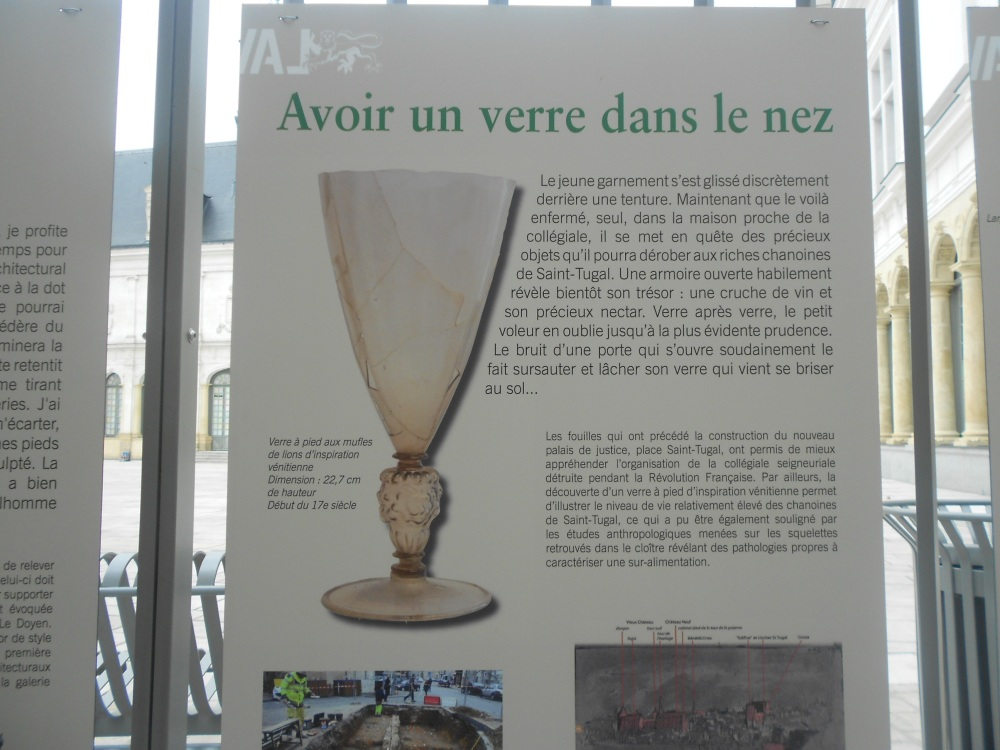 Posters up in Laval explaining archaeological finds