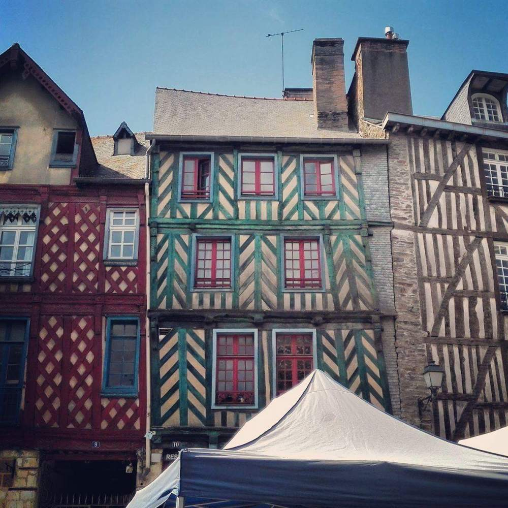 Timber frame homes in Rene built during the medieval era