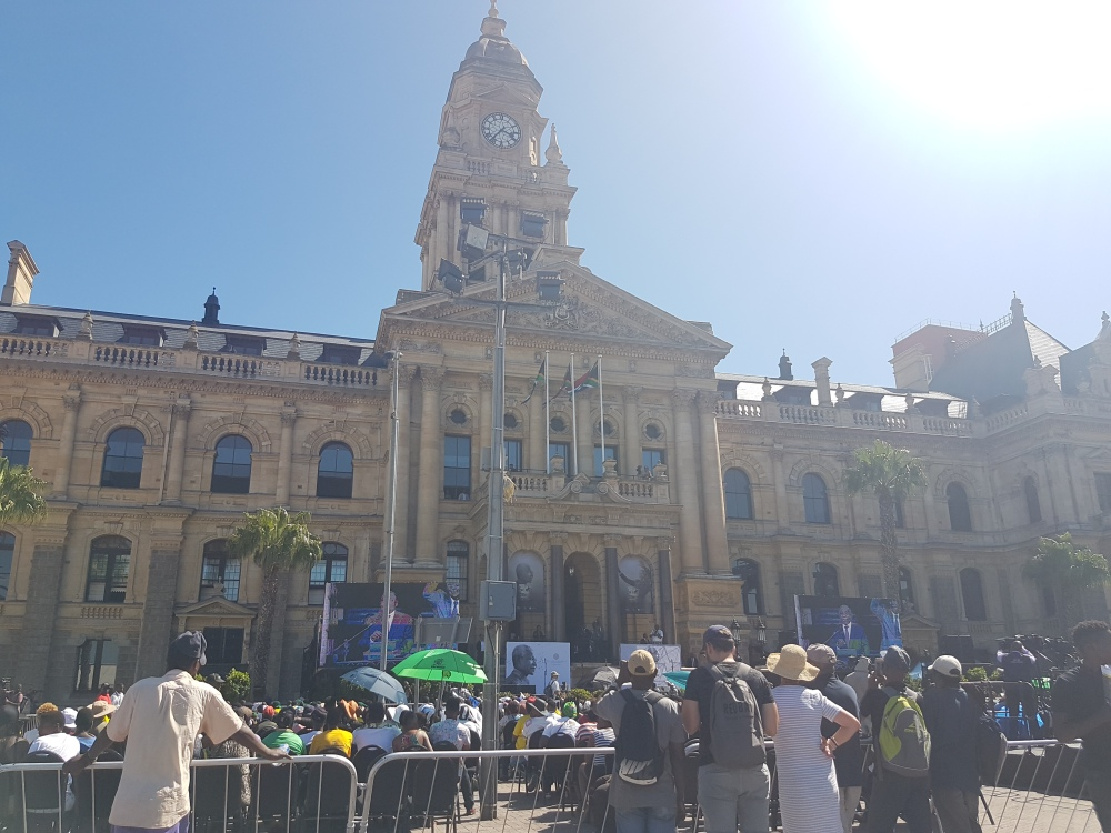 Cape Town City Hall where Nelson Mandela addressed the crowd upon his release