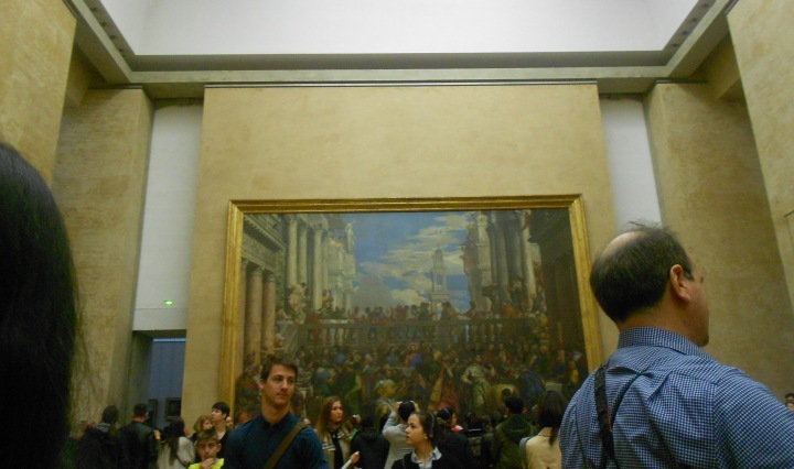 It is now closed but this is how crowded the Louvre gets