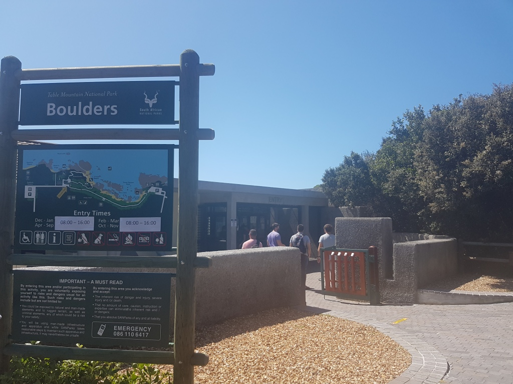 The information centre of Boulders Beach